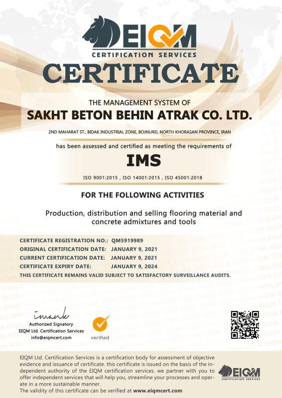 Sakht Beton Behin Atrak Co. LTD -IMS- QM5919989